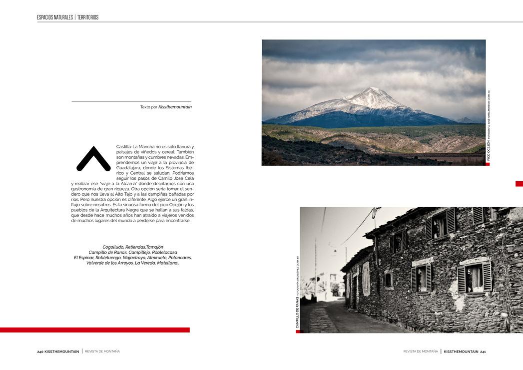 Pico Ocejón y pueblos de Arquitectura Negra