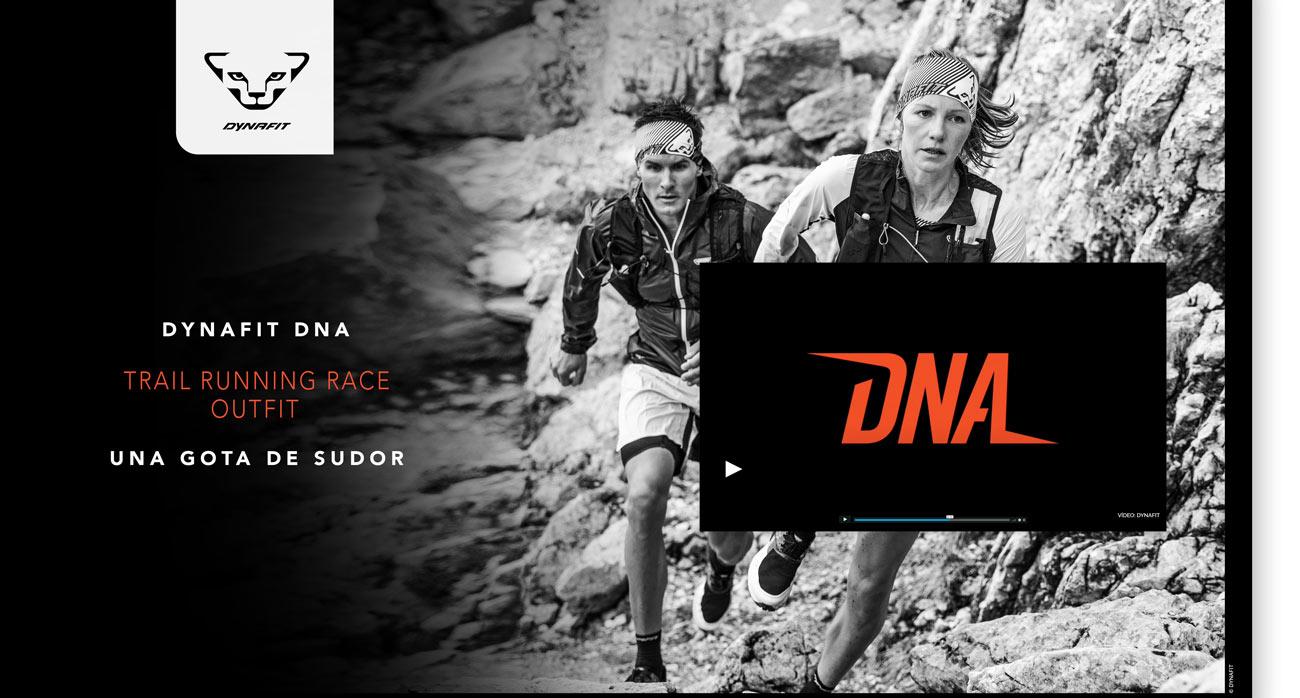 Ropa y zapatillas de trail running. Dynafit DNA. Race outfit