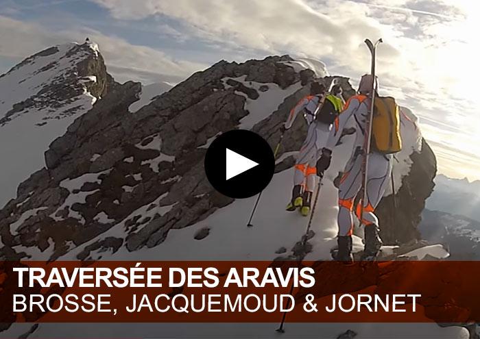 Traversée des Aravis. Kilian Jornet Burgada, Mathéo Jacquemoud et Stéphane Brosse