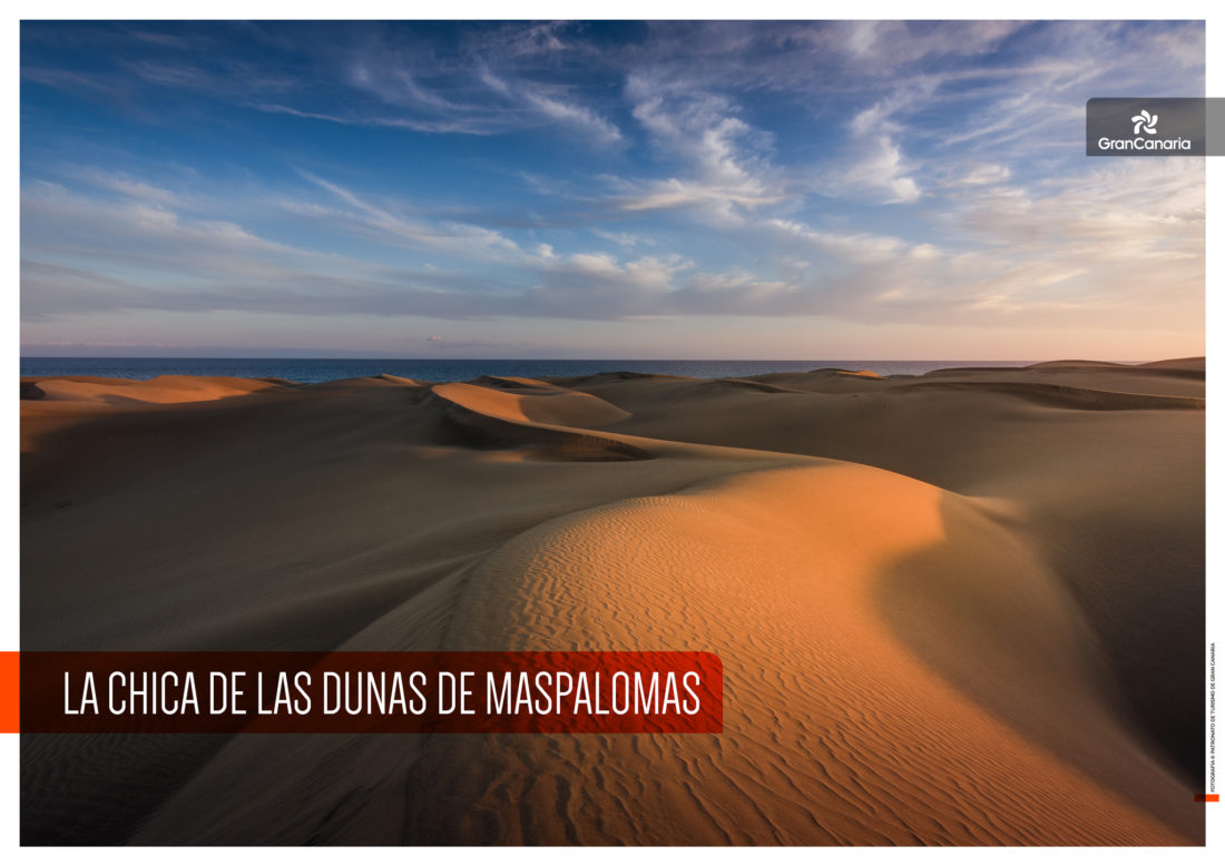 La chica de las dunas de Maspalomas