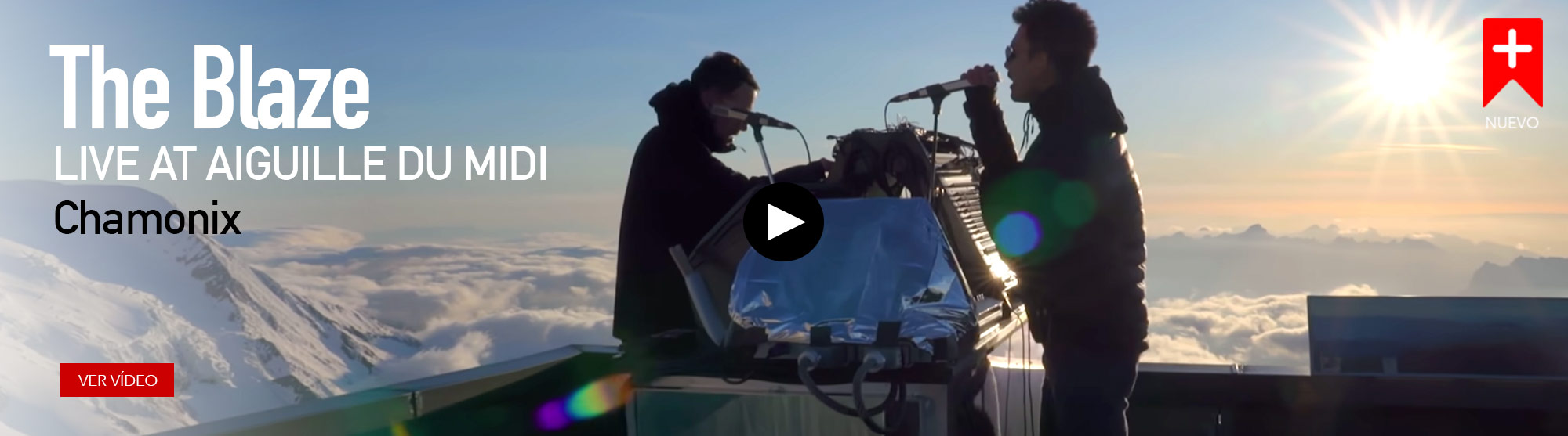 The Blaze. Live at Aiguille du Midi
