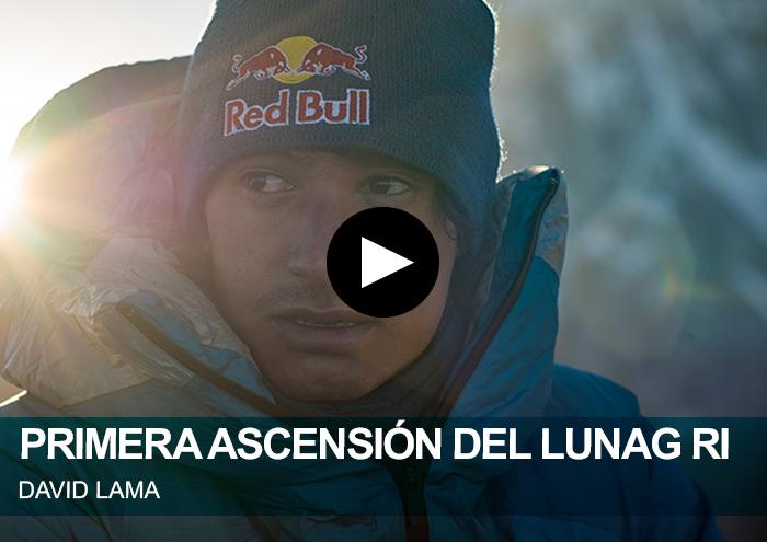 David Lama. Primera ascensión del Lunag Ri