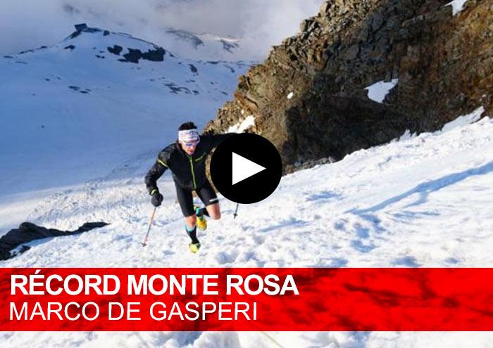 Récord Monte Rosa. Marco De Gasperi