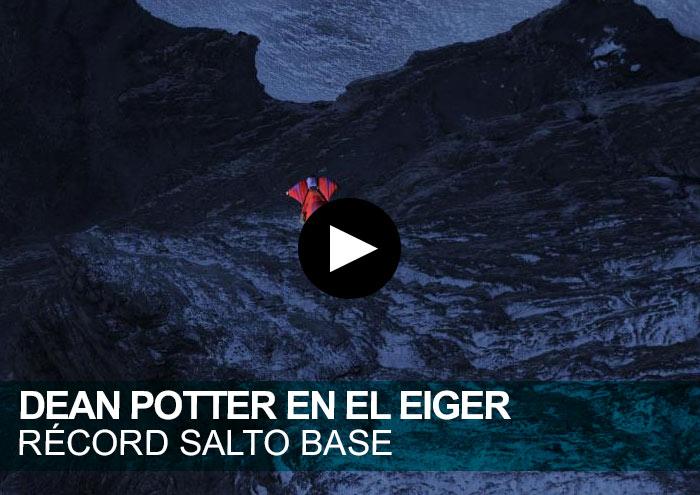 Dean Potter en el Eiger. Récord salto BASE