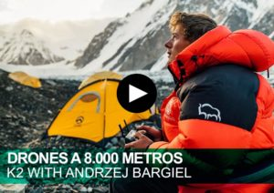 Drones a 8.000 metros. K2 with Andrzej Bargiel