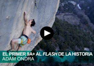 El primer 9a+ al flash de la historia. Adam Ondra