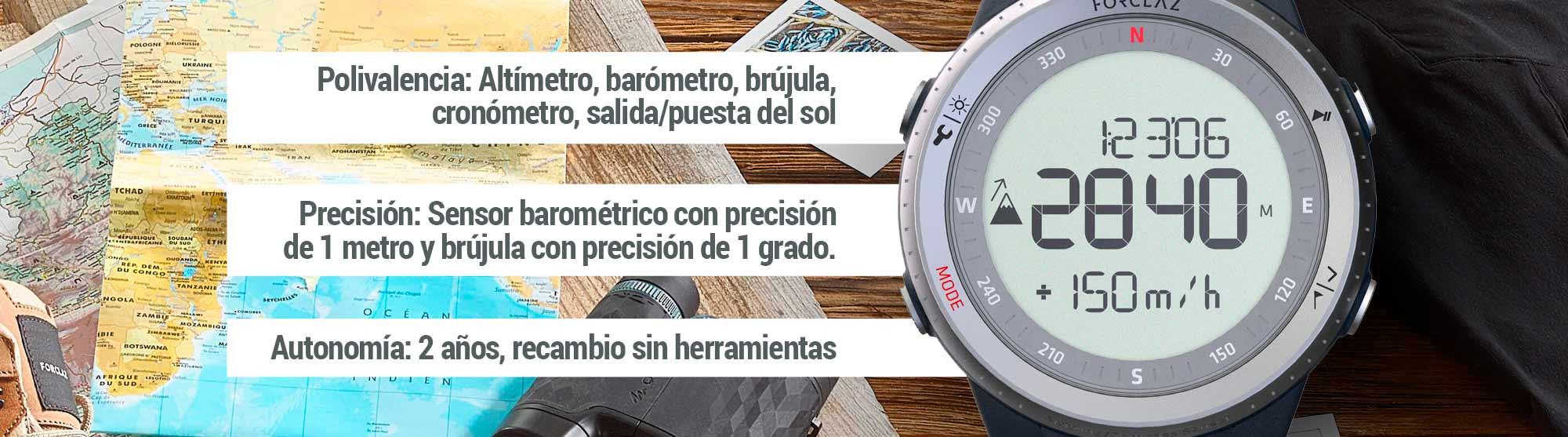 Reloj Decathlon Altímetro Barómetro de Montaña y Trekking con Brújula MW TREK 900 | Kissthemountain
