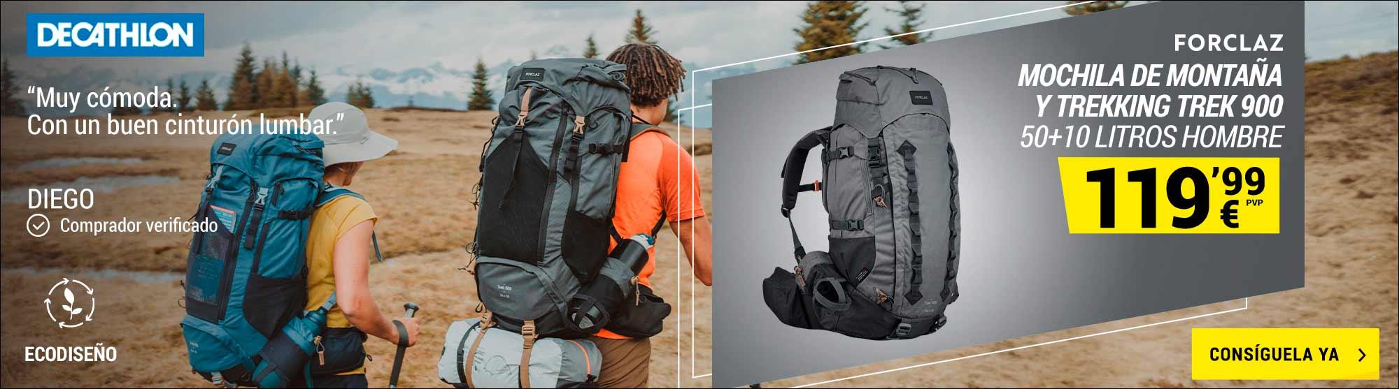 Mochila de Montaña y Trekking Decathlon Forclaz, Trek900 Symbium 50+10Litros